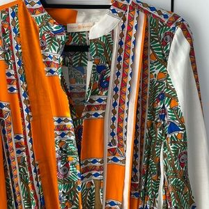 Tory Burch Pleated Printed Dress - Size 12 - NWT